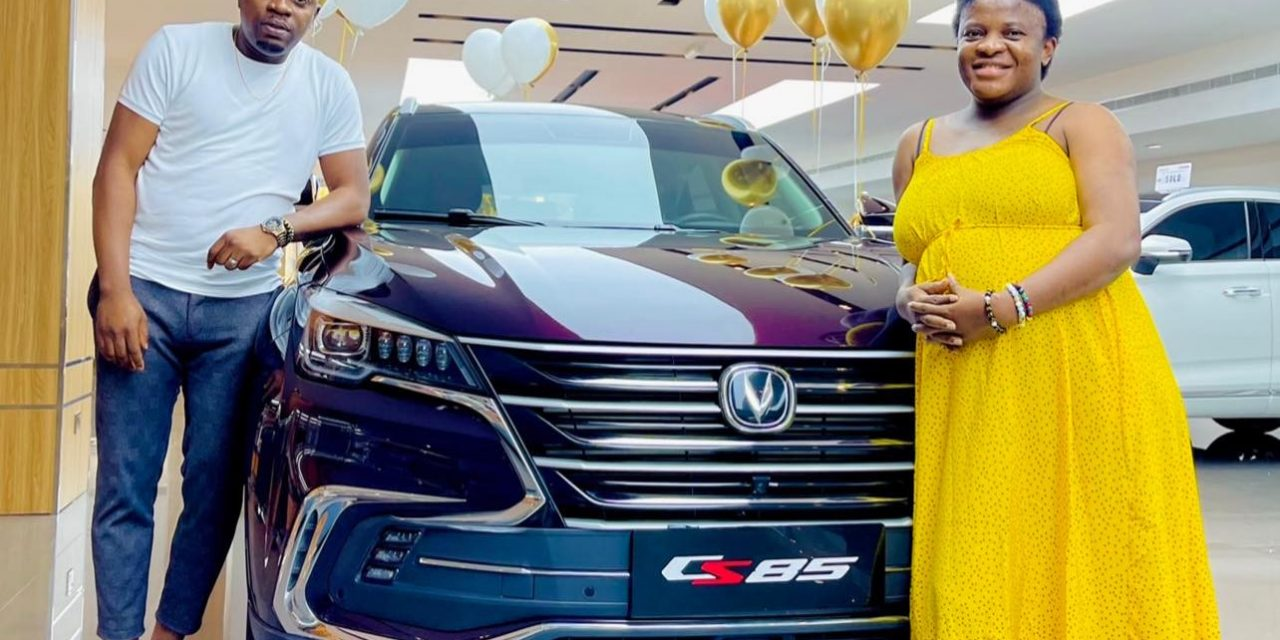 Sex therapist, Angela Nwosu, receives a brand new SUV from her husband as push present